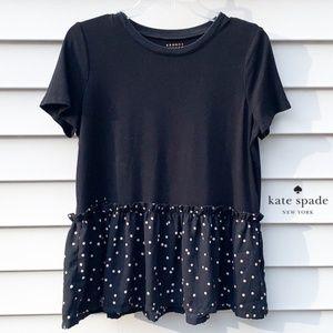 Kate Spade ♠️   Ruffle Polka dot Babydoll